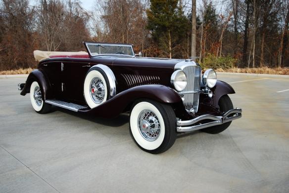 1934 Duesenberg Model JN-570 Rollston SWB Convertible Sedan
